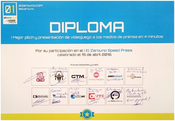 Diploma ZeroUno Speed Press